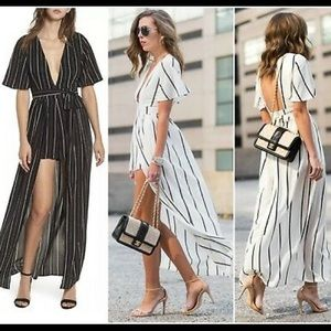 Socialite Stripe maxi with shorts